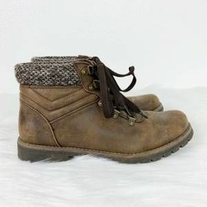 Sonoma Lug Ankle Claudia Brown Women Fall Boots 10